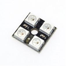 Модуль из 4 RGB светодиодов WS2812 2x2