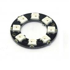 Модуль из 8 RGB светодиодов WS2812 (кольцо)