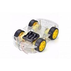 """DIY набор-конструктор """"4-х колесного шасси 2-ух уровневый"""" прозрачный акрил"""