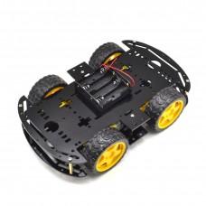 """DIY набор-конструктор """"4-х колесного шасси 2-ух уровневый"""" черный акрил"""