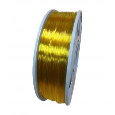 PETG пруток 1.75мм прозрачный Жёлтый 1кг, катушка