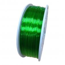 PETG пруток 1.75мм прозрачный Зелёный 1кг, катушка