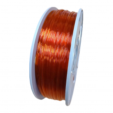 PETG пруток 1.75мм прозрачный Оранжевый 1кг, катушка