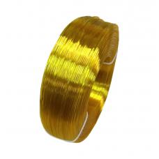 PETG пруток 1.75мм прозрачный Жёлтый 1кг, моток