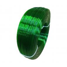 PETG пруток 1.75мм прозрачный Зелёный 1кг, моток