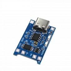 Модуль заряда аккумуляторов TP4056 (с защитой) typeC