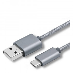 Type-C USB кабель 1м, серый