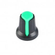 Колпачок для потенциометра 15x17мм зеленый