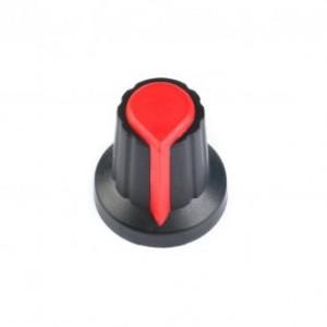 Колпачок для потенциометра 15x17мм красный