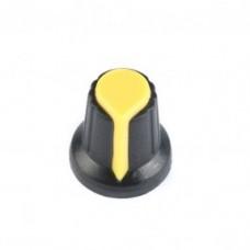 Колпачок для потенциометра 15x17мм желтый