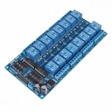 Модуль реле 12В 16-каналов электромеханическое