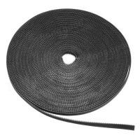 Лента зубчатая GT2-6mm, черная, 1 метр с жестким кордом