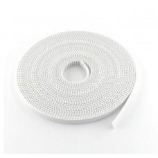 Лента зубчатая GT2-10mm, белая, 1 метр  с жестким кордом.