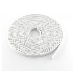Лента зубчатая GT2-6mm, белая, 1 метр  с жестким кордом.