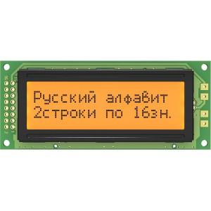 Символьный дисплей MT-16S2D-2FLA (1602, янтарный, кирилица) купить