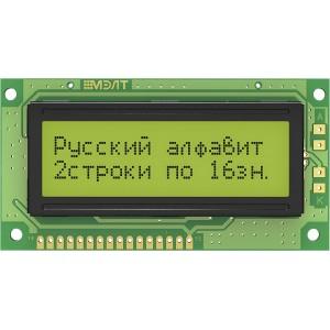 Символьный дисплей MT-16S2H-2YLG-I (1602, зеленый, кирилица, I2C) купить