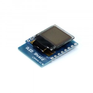 "OLED shield 0.66"" 64x48, I2C синий купить"