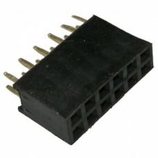 Гнездо на плату PBD-12 (DS-1023 - 2x6), прямое черное