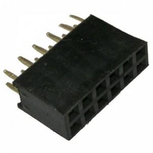 Гнездо на плату PBD-12 (DS-1023 - 2x6), прямое черное купить