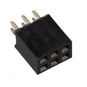 Гнездо на плату PBD-6 (DS-1023 - 2x3), прямое черное купить