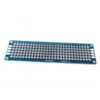 Двусторонняя печатная плата 2х8 см, синяя