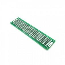Двусторонняя макетная плата 2х8 см, зеленая