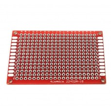 Двусторонняя печатная плата 4х6 см, красная