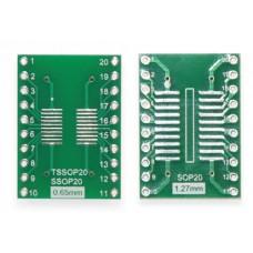 Двусторонняя SOP20 SSOP20 TSSOP20 печатная плата