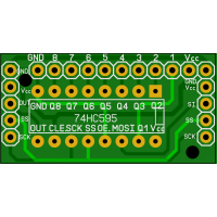 Плата - переходник для сдвигового регистра 74HC595