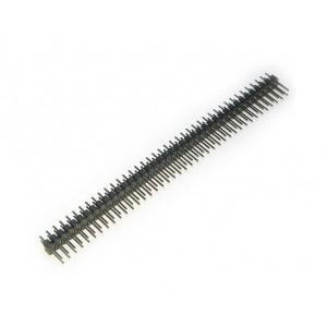 Вилка штыревая PLD-80 (DS1021-2x40), прямая черная купить