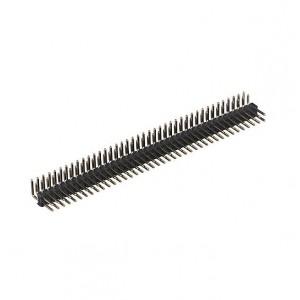 Вилка штыревая PLD-80R (DS1022-2x40), угловая черная купить