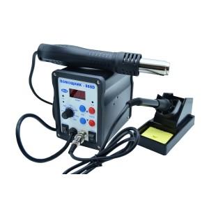 Паяльная станция (фен+паяльник) ПС-868D 700Вт купить