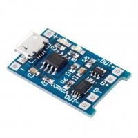 Модуль заряда аккумуляторов TP4056 (с защитой) micro USB