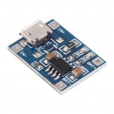 Модуль заряда аккумуляторов TP4056 (micro USB)