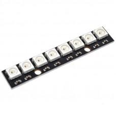 Модуль из 8 RGB светодиодов WS2812B