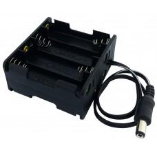 Батарейный отсек UM-3x8 (2 x 4 AA), штекер 5.5х2.1