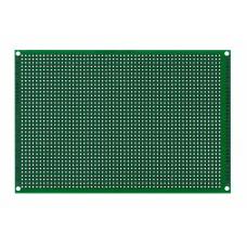 Двусторонняя макетная плата 10х15 см, зеленая