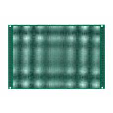 Двусторонняя макетная плата 12х18 см, зеленая шаг 2.0