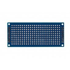 Двусторонняя макетная плата 3х7 см, синяя