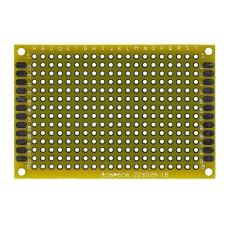 Двусторонняя макетная плата 4х6 см, желтая