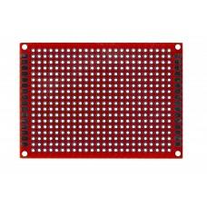 Двусторонняя макетная плата 5х7 см, красная