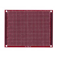 Двусторонняя макетная плата 7х9 см, красная