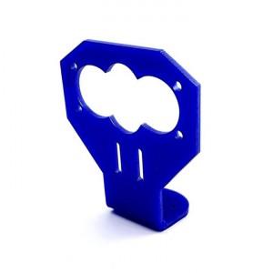 Держатель для датчика HC-SR04, синий пластик купить