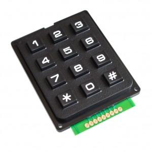 Клавиатура черная NUMPAD 3х4 купить