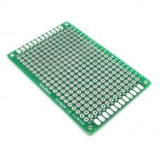 Двусторонняя печатная плата 4х6 см, зеленая