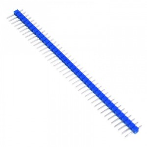 Вилка штыревая PLS-40 (DS1021-1x40), прямая синяя купить