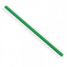 Вилка штыревая PLS-40 (DS1021-1x40), прямая зеленая