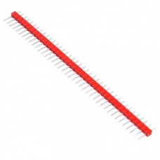 Вилка штыревая PLS-40 (DS1021-1x40), прямая красная