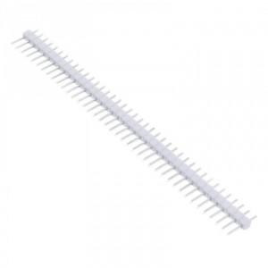 Вилка штыревая PLS-40 (DS1021-1x40), прямая белая купить