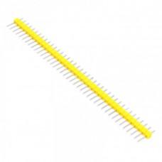 Вилка штыревая PLS-40 (DS1021-1x40), прямая желтая